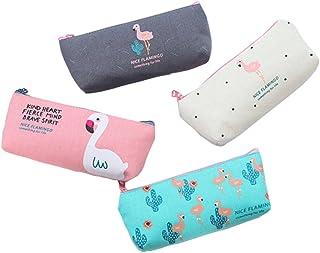 BIGBOBA BIGBOBA 4x Mini Canvas Geldbörse Damen Geldbörse Geldbörse Portemonnaie kleine Süßigkeiten Aufbewahrungsbeutel