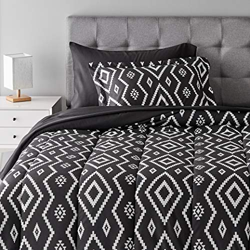 Product Image of the Amazon Basics Multi-Piece Light-Weight Microfiber Bed-In-A-Bag Comforter Bedding...