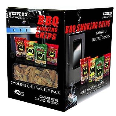 WESTERN 80485 Prime Wood BBQ Smoking Chips Variety Pack