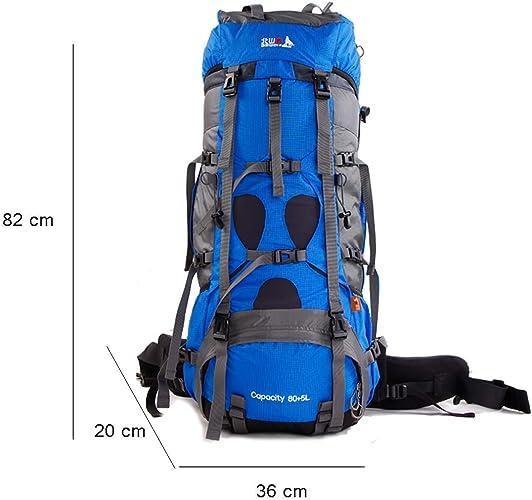XQY Trekking Rucksacks Back Sac à dos de randonnée - Sac à dos pour alpinisme professionnel, 85L, résistant à la décompression et à la sueur, sac à dos haute perforhommece pour camping et montagne avec