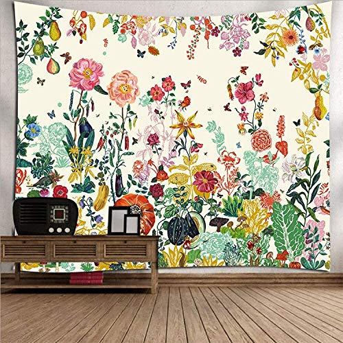QAZX Tapiz de Pared Tapiz psicodélico Colgante de Pared Flor de Color Hermoso Poliéster Grande Decoración de Arte Tela HD Fondo de Tela para Sala de Estar Dormitorio 200x150cm