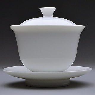 天香茶行 玉蘭蓋碗 蓋碗 茶杯 急須 茶器 (皿径113mm 杯径95×高95mm)
