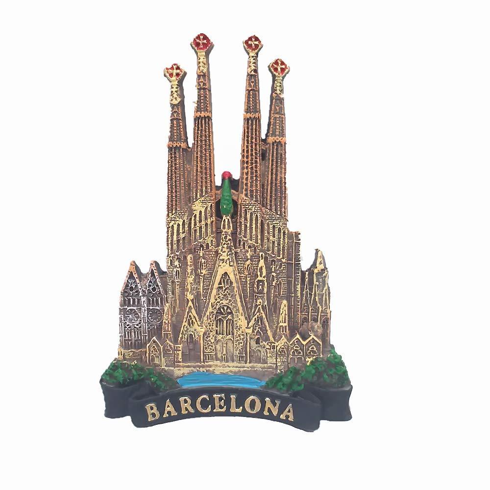 MUYU Magnet Sagrada Família Catedral Barcelona España 3D imán de Nevera Recuerdo Regalo, decoración de hogar y Cocina magnético calcomanía Barcelona España imán colección: Amazon.es: Hogar