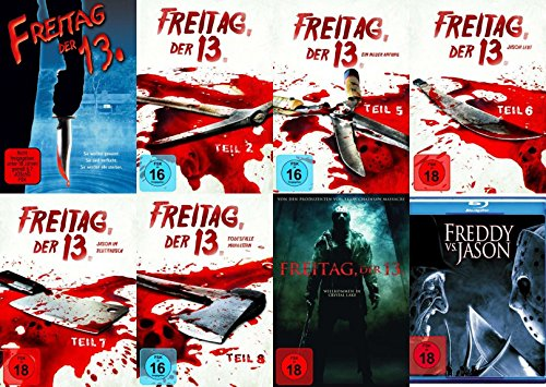 Freitag der 13. Collection Teil 1 2 5 6 7 8 + Remake + Freddy vs. Jason 8 DVD + Blu-Ray Edition