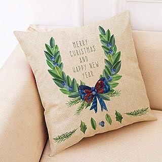 65489748 SYDDP cojín Regalos de Vacaciones para la decoración del hogar del sofá del sofá de la Siesta de la Oficina (7 Estilos Disponibles) (PATRÓN : C)