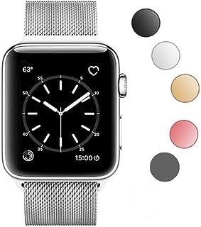 Wedas For apple watch バンド,ミラネーゼループ アップルウォッチバンド apple watch ベルト BRG Co apple watch series 1/2/3/4ステンレス留め金製(42mm/44mm,シルバー)