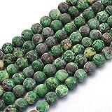 Piedras preciosas de ágata de piedras preciosas, selección de colores, 8 mm, diseño de joyas, accesorios para manualidades (verde esmerilado)