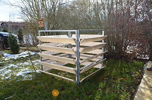 Elmato 14858 Komposter Holz Metall, 100cm x 100 cm- 1000 lt
