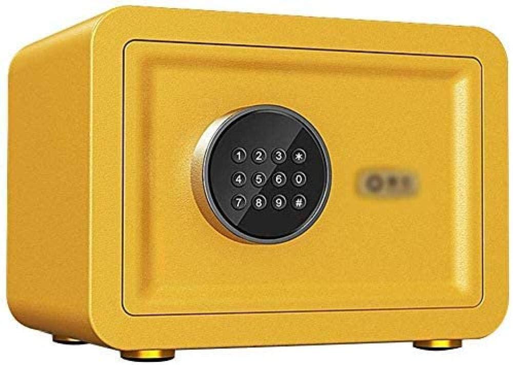Caja fuerte pequeña caja fuerte con armario de almacenamiento para llaves de oficina en casa, color amarillo (tamaño: 25 x 25 x 35): Amazon.es: Bricolaje y herramientas