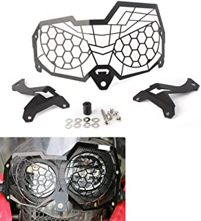 GZYF Motorcycle Front Headlight Grill Cover Headlamp Grille Guard Protector Compatible with Honda CRF250 Rally 2017-2018