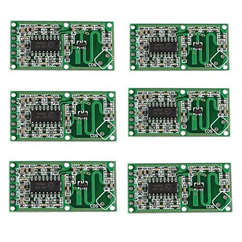 iHaospace 6 Pcs RCWL-0516 Microwave Radar Sensor Module Human Body Induction Switch Module Smart Induction Sensor