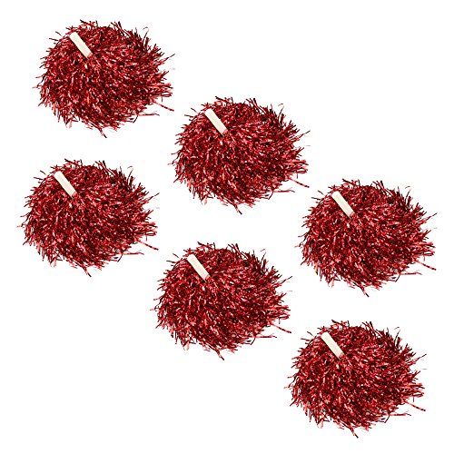 VENIMASEE 1 Paar Straight Handle Cheerleading Pom Poms Party Costume Accessoires Sports Set, 0.025kg/Pieces