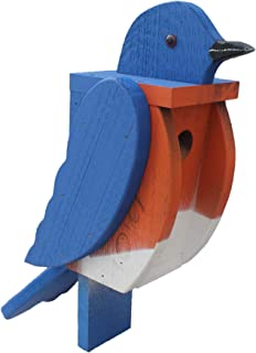 The Woodpecker Family Amish Handcrafted Birdhouse (Bluebird)