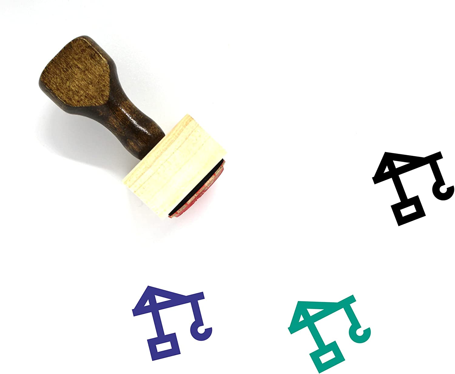 Container New Shipping Free Shipping Challenge the lowest price of Japan ☆ Lifter Wooden Rubber Stamp 3