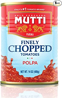 Mutti — 14 oz. 6 Pack of Finely Chopped Tomatoes from Italy's #1 Tomato Brand. Adds..