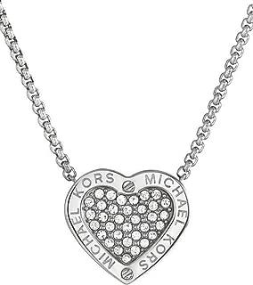 MK Status Logo Heart Pendant Necklace