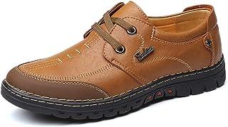 [HYF] メンズ シューズ ビジネス レザー 耐摩耗 衝撃吸収 快適 シンプル 滑り止め 紳士 革靴