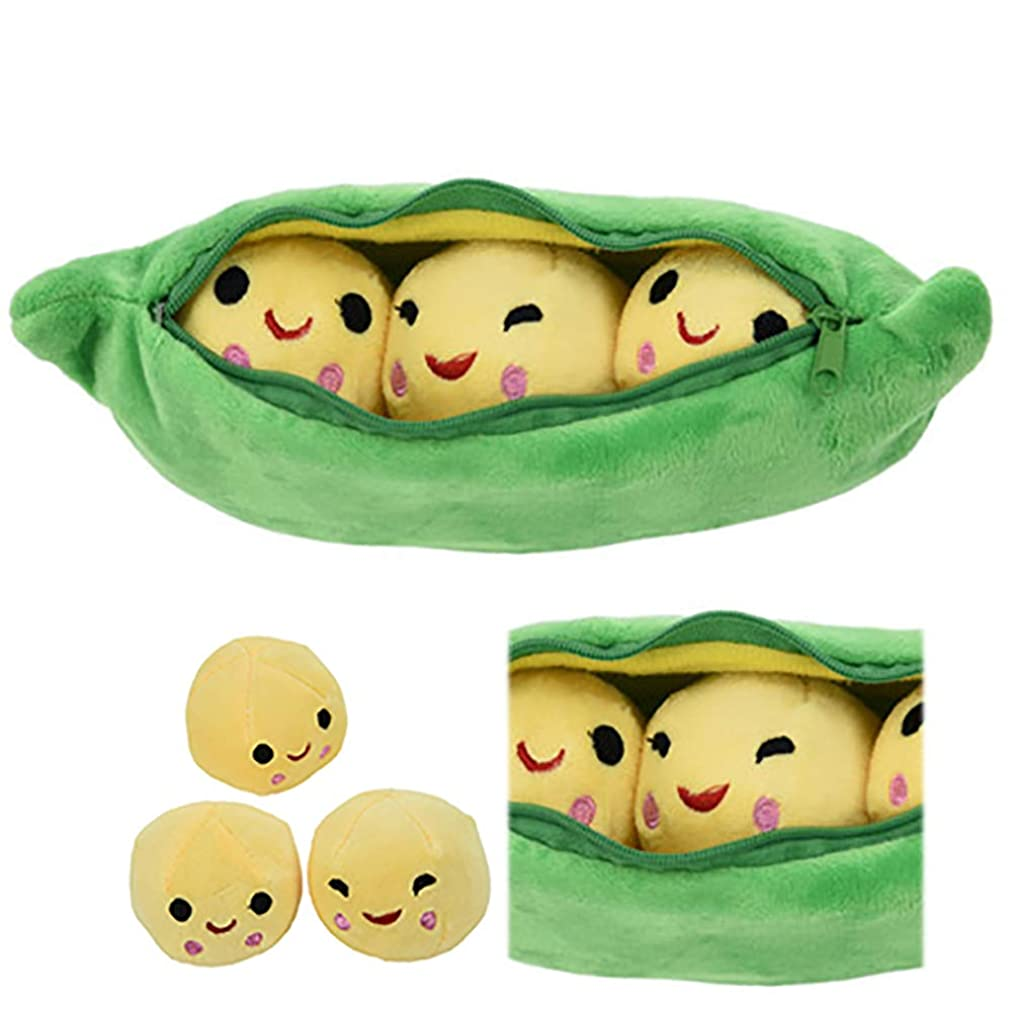 1pc Peas-in-a-Pod Toy Plush Bean Toy Stuffed Plant Pillow Doll Toys Super Soft Doll Pillow Novelty Design Children Gift(19.7 Inch)