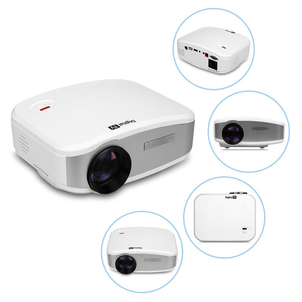 CHEERLUX C6 Mini proyector 800 x 480 Pixels 1200 Lumens proyector ...