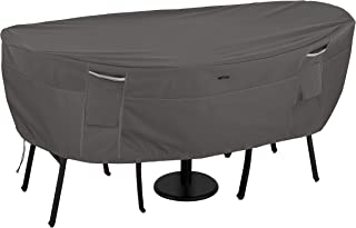 Classic Accessories Ravenna Water-Resistant 40 Inch Round Bistro Patio Table & Chair Set Cover