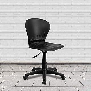 Flash Furniture Mid-Back Black Plastic Swivel Task Office Chair