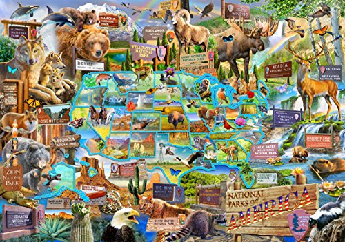 250pc Wentworth Wooden Jigsaw Puzzles - National Parks of America.