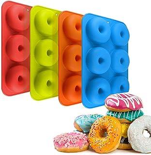 Schneespitze 4 Pièces Moules en Fil De Silicone Moule à Donuts Moule en Silicone de Qualité Alimentaire,pour Les Biscuits,...