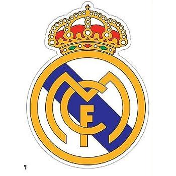 pegatina de pared etiqueta de la pared Real Madrid Logo Soccer Sports Decal para sala de estar para dormitorio para habitación de niños: Amazon.es: Bricolaje y herramientas