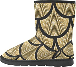 Women's Classic Winter Snow Outdoor Warm Durable Mid Calf Snow Boots
