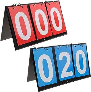 APORO Portable Table Top Scoreboard Flipper, Multi Sports Score Flip Scoreboard