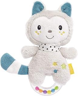 En katt som skallra. Mjuk och greppvänlig leksak för baby.