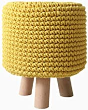 WY&XIAN Fashion Creative Small Wooden Bench Dressing Round Stool Simple Modern Sofa Bench Practical Fashion (Color : Gray,...