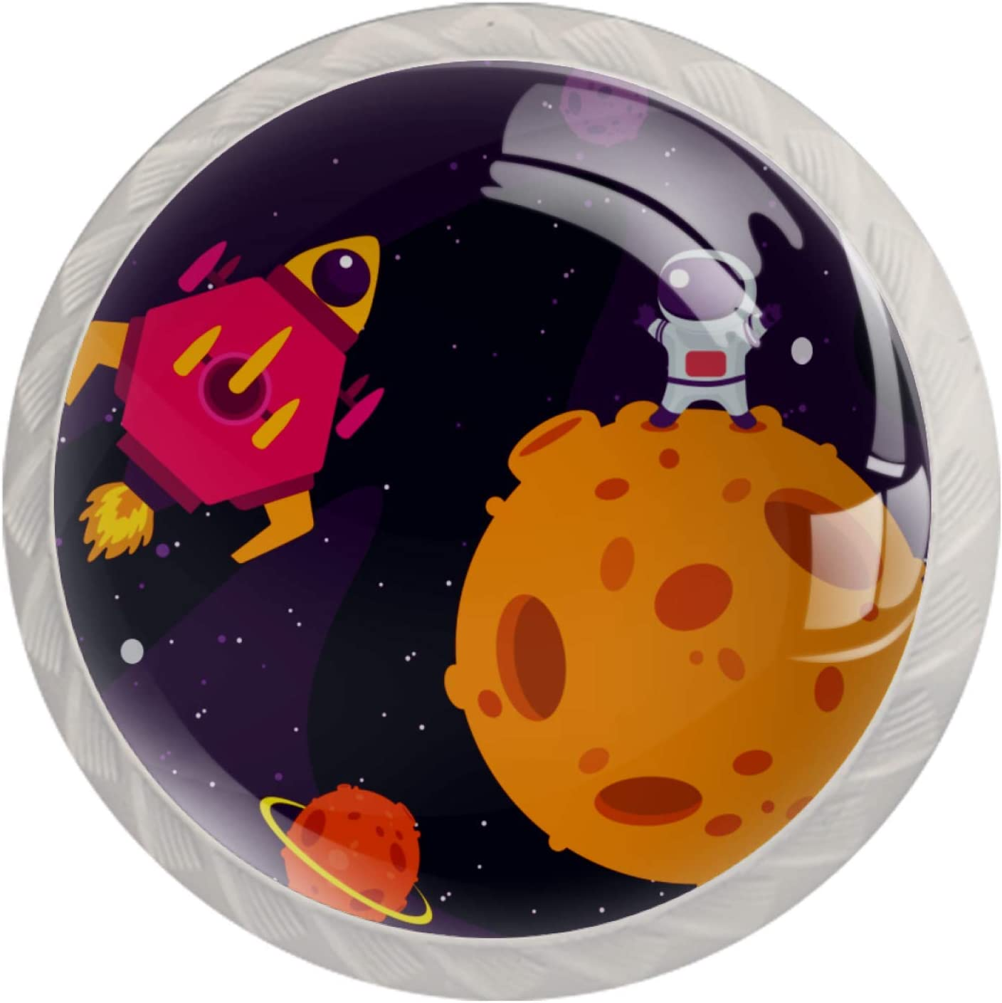 Kids Drawer Knobs Purchase Pulls Cartoon Max 61% OFF Rocket Handles Nursery for Space