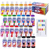 Acrylic Paint Set for Canvas Painting of 24 Colors 28 Bottles x (60 ml/2 oz), Acrylic Paints for Canvas, Wood, Fabric,...