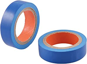 uxcell 2 Pcs 15mm Wide Blue Adhesive Electrical Insulation Tape Roll