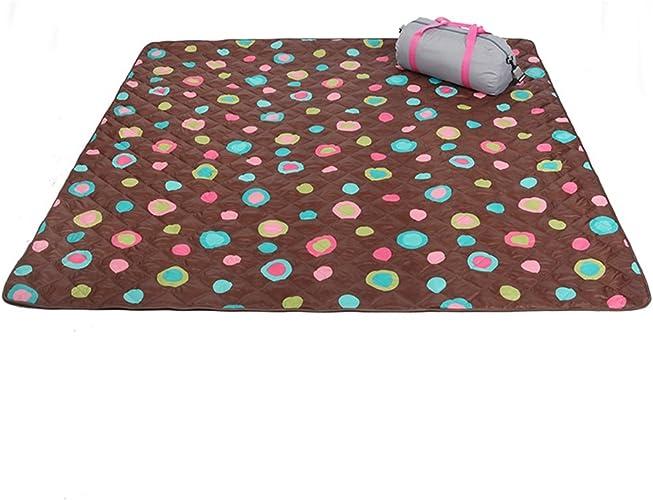 XUANLAN Tapis de pique-nique pliable Portable Tapis de camping épais Lavable à l'eau Tapis de couchage Tapis de tente intérieur confortable (Couleur   B, Taille   200200CM)