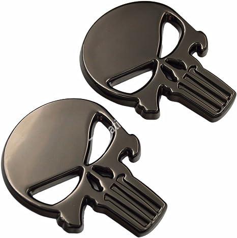 3d Metall Totenkopf Punisher Emblem Abzeichen Mit Selbstklebendem Aufkleber Für Jeep Bmw Camaro Mustang Silverado Dodge Ram Rt Auto