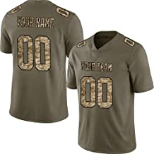 Pullonsy Salute to Service Custom Football Jerseys for Men Women Youth Embroidered Your Name & Numbers S-8XL Design Your Own