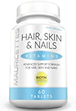 Hair Skin and Nails Vitamins - Non-GMO - Packed with 5000 mcg Biotin Keratin and Collagen for Faster Natural Hair Growth - 60 Pills for Women and Men