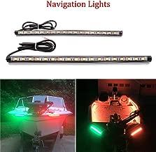 Botepon Led Navigation Lights, Boat Red and Green Bow Lights, Boat Stern Lights, Marine Led Lights, IP67 Waterproof for Pontoon Boat Dinghy Kayak Yacht Bass Boat