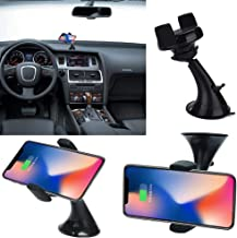 Websad_Qi Wireless Charger Dock Car Holder Fast Charger Charging Pad for iPhone 8/8Plus/X Black