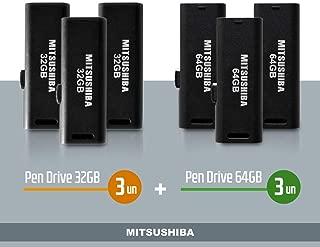 Kit Pen Drive 32GB 3pcs + 64GB 3pcs Mitsushiba