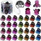 100 Pièces Mini Pinces à Griffes de Cheveux Pinces à Cheveux en Plastique Clip de...