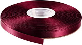 """ITIsparkle 3/8"""" Inch Double Faced Satin Ribbon 50 Yards-Roll Set for Gift Wrapping Scrap Books Party Favor Hair Braids Baby Shower Decoration Floral Arrangement Craft Supplies, Burgundy 277# Ribbon"""