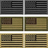 USA Flag Patch Military Tactical Morale Patchs Set Thin Blue Line Decorative Patches Don't Tread On Me Fully Embroidered Morale Tags Patch for Backpacks Military Uniforms (6pcs Patch)