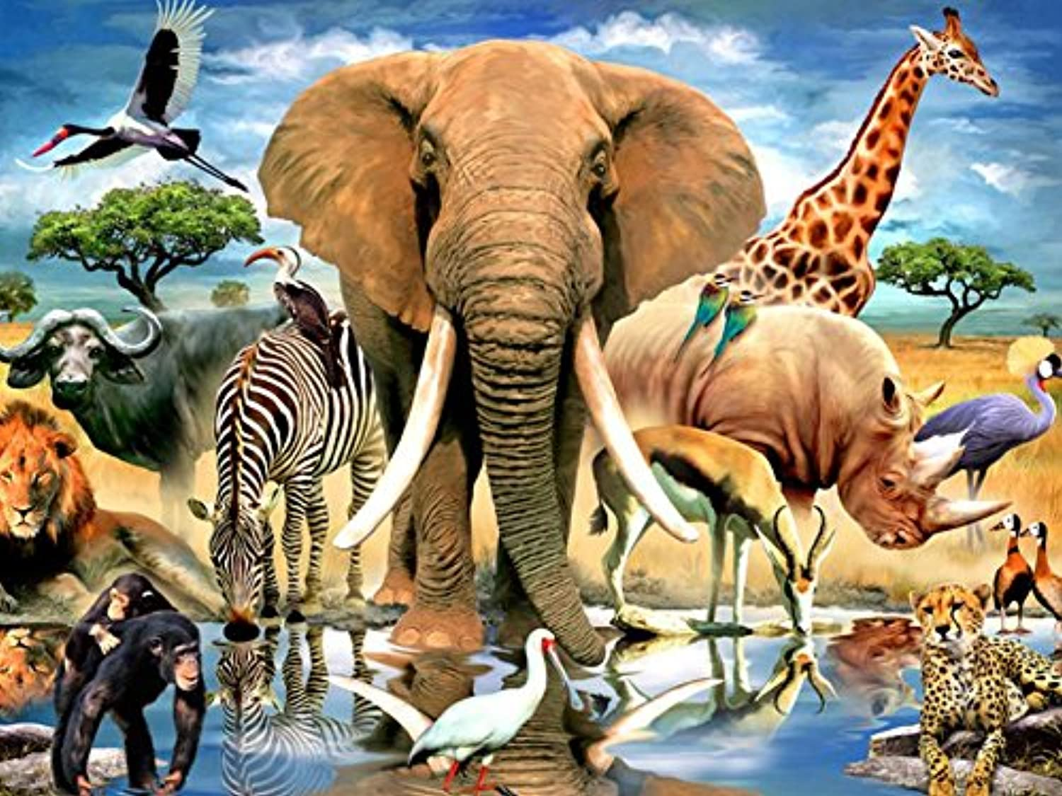 Ceaco Harmony Collection African Oasis Puzzle (550 Piece)