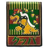 Nintendo Wallet Bowser Kanji Super Mario Gamer Official New Bifold Size One Size