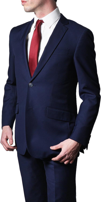 Giorgio Fiorelli Mens G79609 2 Button 2 Piece Suit Euro Slim Fit