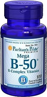 Puritans Pride Vitamin B-50 Complex Caplets, 100 Count