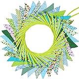 Stofff Banner Bunting aus 36 Fahnen in 18 Verschiedenen Stilrichtungen, 33 Fuß Doppelseitige und Schicke Wimpel für Hochzeit Geburtstag Baby Dusche Sommer Party (Stil 2)